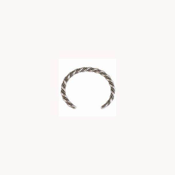 Vikingearmbånd, snoet, tin med antik sølvfinish