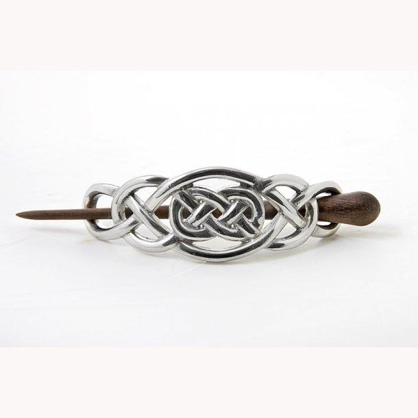 Keltisk hårspænde med knudemønster