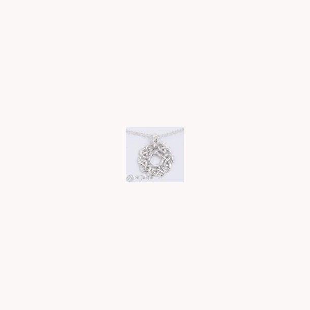 Pentagon keltisk knude vedhæng i sterling sølv