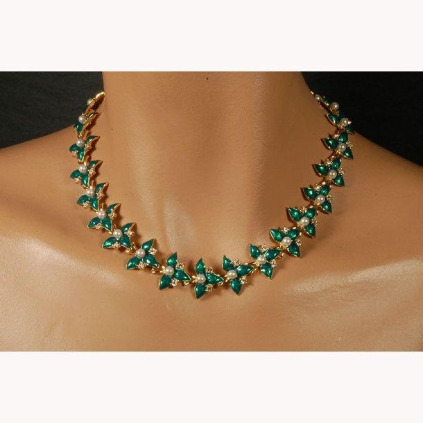 Fabergé blomster halskæde
